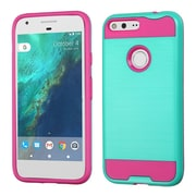 Insten Hard Dual Layer TPU Cover Case For Google Pixel XL - Teal/Hot Pink