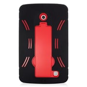 Insten Symbiosis Gel Hybrid Rubber Hard Case with stand For LG G Pad 7.0 - Black/Red