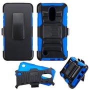 Insten Hard Dual Layer Plastic Silicone Cover Case w/Holster For LG LV3 - Black/Blue