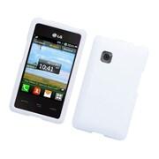 Insten Hard Rubber Coated Case For LG 840G - White