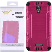 Insten Hard Dual Layer Case with Screen Protector For Alcatel One Touch Fierce 4 / Pop 4 Plus - Hot Pink/Black