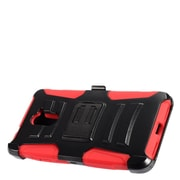 Insten Advanced Armor Hybrid Stand Case + Holster Clip For ZTE Grand X Max 2/Imperial Max /Kirk/Max Duo 4G - Black/Red