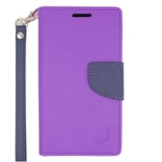 Insten Flip Leather Cover Case with Lanyard & Photo Display For ZTE Speed - Purple/Blue