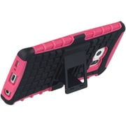 Insten Grenade Hybrid Dual Layer Hard PC/TPU Case Cover For Samsung Galaxy S6 Edge - Black/Hot Pink