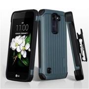 Insten Hard Hybrid TPU Case w/Holster For LG Escape 3 / K7 / Treasure LTE - Blue/Black