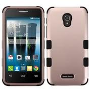 Insten Tuff Hard Dual Layer Silicone Cover Case For Alcatel One Touch Allura/Fierce 4/Pop 4+ - Rose Gold/Black