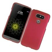 Insten Hard Rubber Snap On Back Case For LG G5 - Red