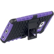 Insten Grenade Hybrid Dual Layer Hard PC/TPU Case Cover For Samsung Galaxy S6 Edge - Black/Purple