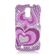 Insten Hearts Hard Diamond Case For ZTE Force - Pink