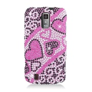Insten Hearts Hard Diamond Cover Case For ZTE Force - Pink