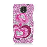 Insten Hearts Hard Rhinestone Cover Case For ZTE Vital - Pink
