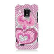 Insten Hearts Hard Bling Case For ZTE Warp LTE - Pink