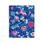 "Vera Bradley Bloom Berry Notebook, 8"" x 10.5"", Ruled, 70 Sheets, Blue/Pink (218063)"