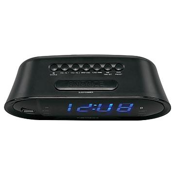 Jensen JCR-298 Bluetooth Digital AM/FM Dual Alarm Clock Radio, Black