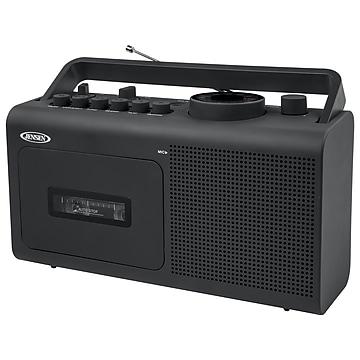 Jensen MCR-250 Portable AM/FM Radio Cassette Recorder/Player, Black