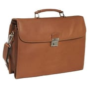 Piel Leather Four Step-Down Portfolio - Saddle (PIEL1441)