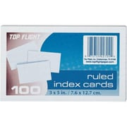 Top Flight 4630712 3 x 5 in. Ruled Index Cards - 100 Count Pack Of 12 (ORGL82350)
