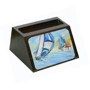 Caroline's Treasures Sailboats And Middle Bay Lighthouse Business Card Holder (CRLT68768)