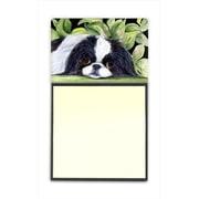 Caroline's Treasures Japanese Chin Refillable Sticky Note Holder or Post-it Note Dispenser (CRLT60426)
