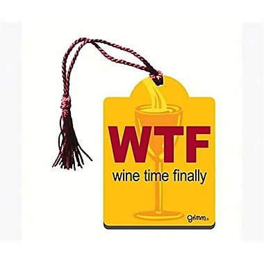 Grimm Wtf Wine Time Finally Bottle Gift Tag Magnet (GC23024)