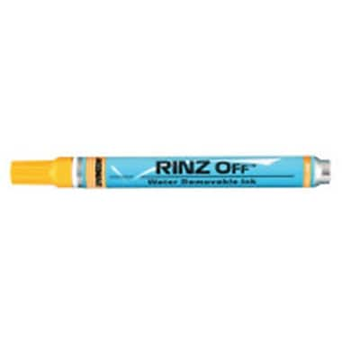 Itw Professional Brands Rinz Off Water Removable Temporary Markers, Yellow (ORSNO247108)