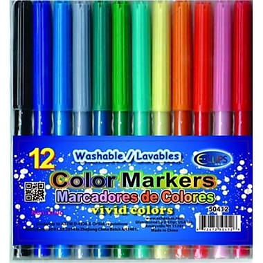 Watercolor Markers - 18 pack - assorted colors Case Of 48 (RTL122677)