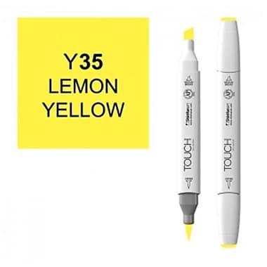 ShinHan Twin Lemon Yellow Marker, White (LVN184)