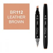 ShinHan Twin Leather Brown Marker, Black (LVN208)