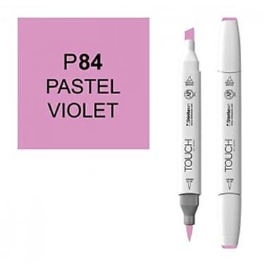 ShinHan Twin Pastel Violet Marker, White (LVN557)