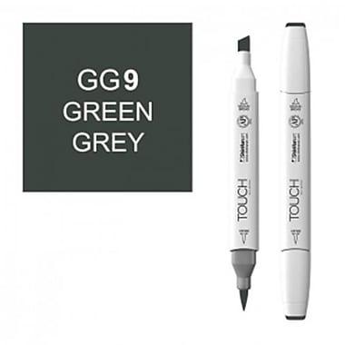 ShinHan Twin Green Grey 9 Marker, White (LVN291)