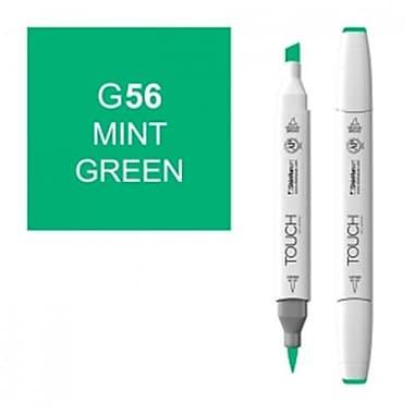 ShinHan Twin Mint Green Marker, White (LVN073)