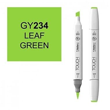 ShinHan Twin Leaf Green Marker, White (LVN351)