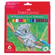 Frontier Natural Products Grip Triangular Colored Pencils 24 Count (FNTR07800)