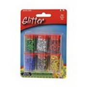 Merchandise A&W 1 & 4 oz. Glitter Assorted Colors, 6 Count (MCDS22800)