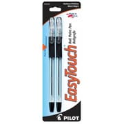 Pilot 32100 Easy Touch Ballpoint Stick Pens, Medium Point, Black, 2 Count, Pack of 6 (JNSN64959)