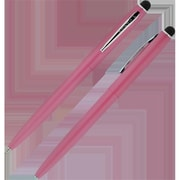 Fisher Space Powder Cap-O-Matic Space Pen with Chrome Accents & Capacitive Stylus, Pink (FRSP177)