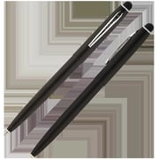 Fisher Space Powder Cap-O-Matic Space Pen with Chrome Accents & Capacitive Stylus, Black (FRSP174)