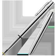 Fisher Space Bullet Style Space Pen with Flat Top Cap, Chrome - Black (FRSP150)
