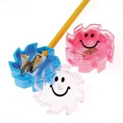 US Toy Sunny Smile Face Pencil Sharpeners - 12 Per Pack - Pack of 12 (USTCYC173050)