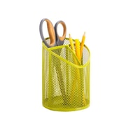 HoneyCanDo Mesh Angled Pencil Cup, Lime Green (HNCD1350)