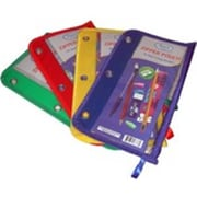 Ddi Pencil Pouch - Clear Plastic - Assorted Colors Pack of 48 (DLR324530)
