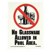 Valterra Products No Glassware Allowed Sign 9 x 12 in., Plastic (HRWEX17183)