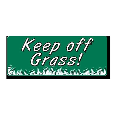 EverMark Keep Off Grass Clip-On Sign (EVMK158)
