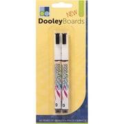 Dooley Board Dry-Erase Markers - Medium, White (DGC105253)