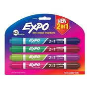 Sanford Ink 2-in-1 Dry Erase Markers, 8 Assorted Colors - Medium Point, 4 per Pack (SSN1420)