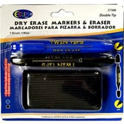 E-Clips Dry Erase Markers Twin Tips-Eraser (DLR349528)