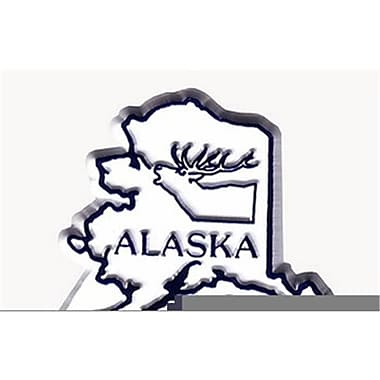 Alaska Magnet 2D 50 State White Case Of 144 (RTL121196)
