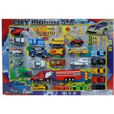 DDI 42 Piece Diecast City Racing Set, Assorted Color (DLR339609)