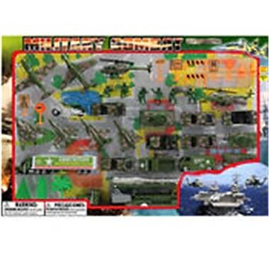 DDI 44 Piece Diecast Military Set, Assorted Color (DLR339607)