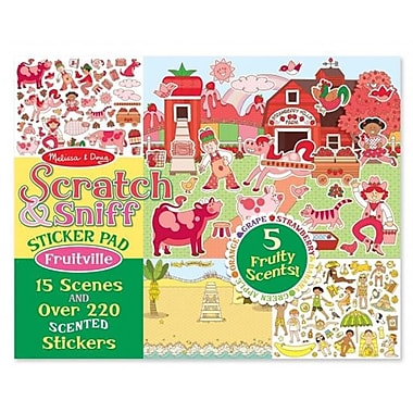 Melissa And Doug Scratch & Sniff Sticker Pad - Fruitville (MLSSAND1416)